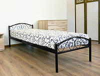 Кровать полуторная металлическая Polo 900x2000 black Бесплатная доставка