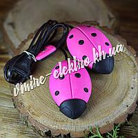 Сушилка для обуви Солнышко ярко розовая с черными точками
