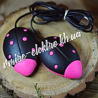 Сушилка для обуви Солнышко черная с малиновыми точками