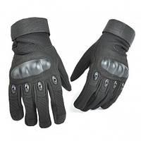 Тактические полнопалые перчатки Oakley черные
