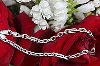 Браслет серебряный 925 мужской Якорь комбинированый