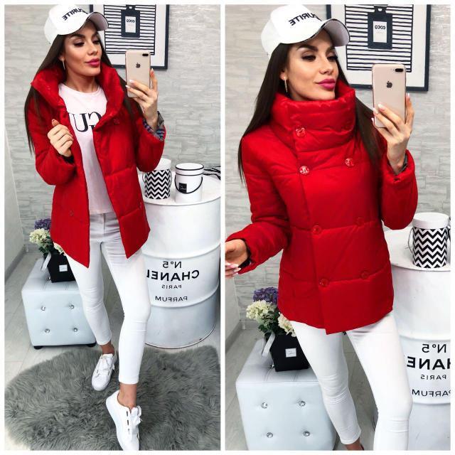 Куртка демисезонная, модель 1001/2,цвет красный
