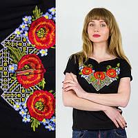 Вышиванка украинская женская Три мака