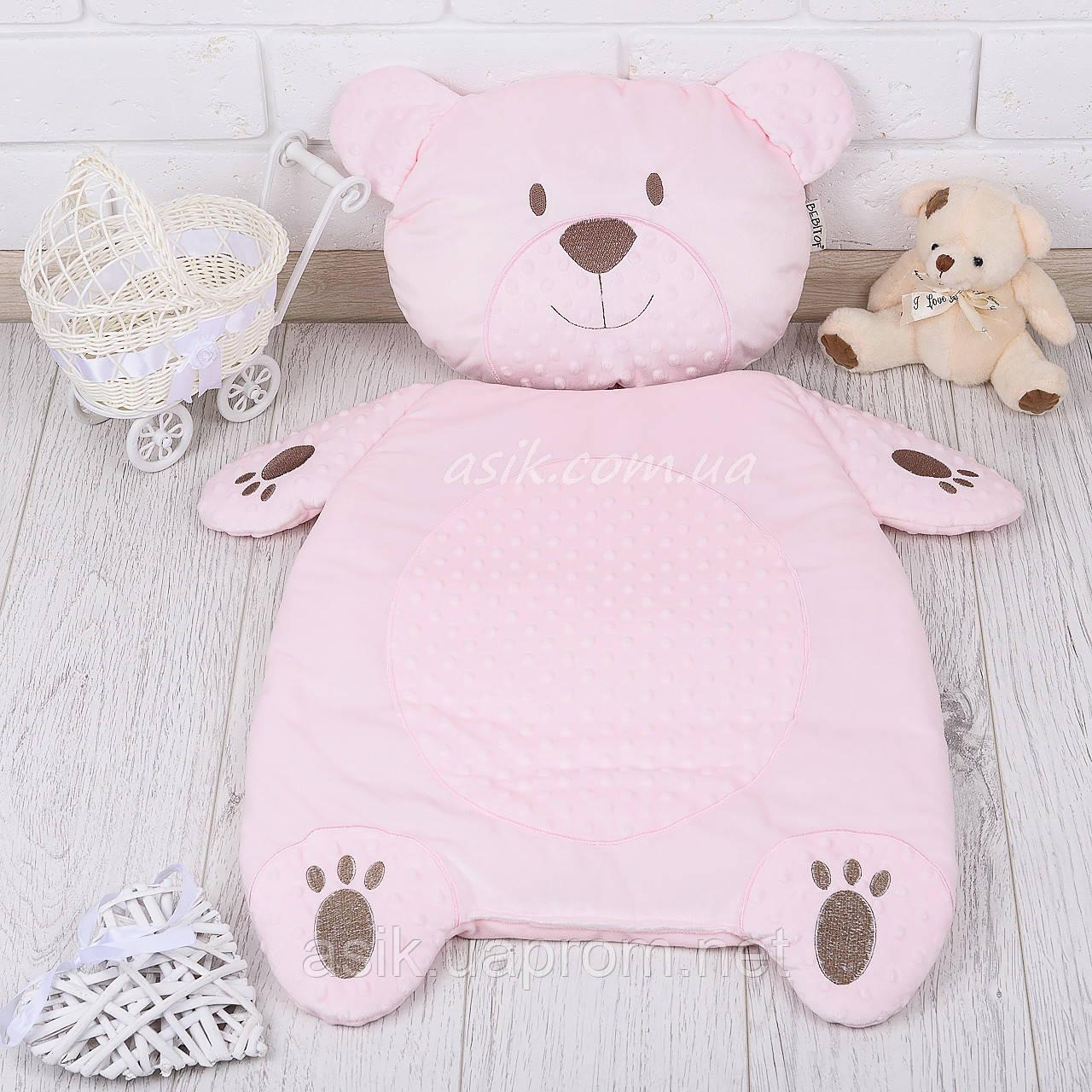 Матрац і подушка в коляску, колір - рожевий
