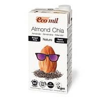 Молоко миндальное с семенами чиа без сахара EcoMil 1 л