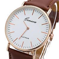 Женские наручные часы Geneva Platinum кожаный ремешок