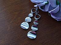 Стильные серебряные серьги, фото 1