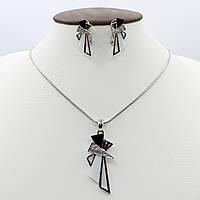 Комплект Подвеска(кулон) на цепочке и серьги