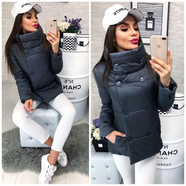 Куртка демисезонная, модель 1001/2,цвет серый