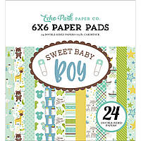 Набір двостороннього паперу - Echo Park - Sweet Baby Boy - 15х15 Ціна за 1/2 набору!!!