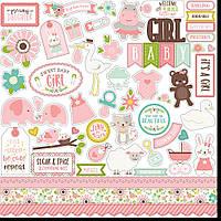 Наклейки - Echo Park - Sweet Baby Girl - 30х30
