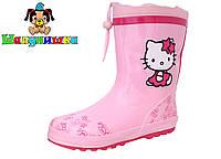 Силиконовые сапоги для девочки  Шалунишка с утеплителем Hello Kitty 30-35