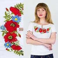 Женская футболка с вышивкой Мак