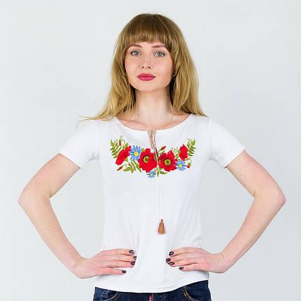 Женская футболка с вышивкой Мак, фото 2