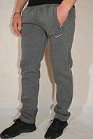 Утепленные мужские спортивные брюки Nike (найк) / серые трикотажные штаны