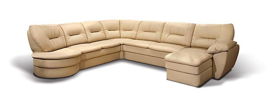 Угловой диван с правым кушеточным модулем раскладной