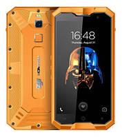 "Смартфон Homtom ZOJI Z8 orange, IP68, 4/64Gb, 16/13Мп, 8 ядер, 2sim, экран 5""IPS, 4250mAh, GPS, 3G, Android 7"