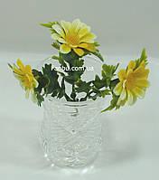 Добавка-цветок к искусственным букетам -  ромашка большая (1 набор -3ромашки)(h-7 см), фото 1