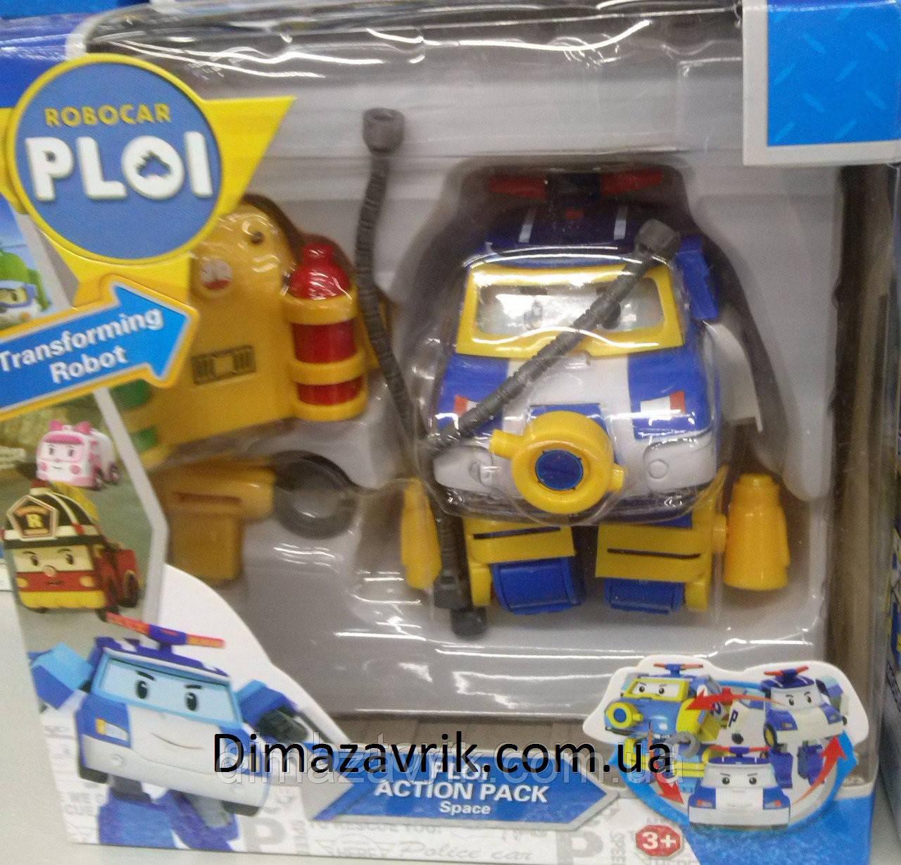 Трансформер Полицейская Машина Робокар Поли с Аксессуарами