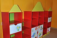 Шкаф-стелаж для детского сада