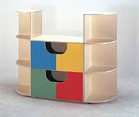 Практичный шкаф для игрушек для детского сада