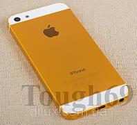 Корпус Apple iPhone 5 золотой  металлический., фото 1
