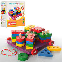 Деревянная игрушка Геометрика BX-112, детская развивающая игрушка, обучающая игра