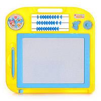 Досточка 3000/27017 для рисования ,счеты,часы 29-27,5-2см, детская досточка для рисования