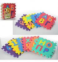 Коврик Мозаика M 2609 EVA, игровой коврик, алфавит, развивающая игра для детей