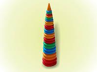 Пирамидка №5 1метр 24кольца арт. 019/2, детская пирамидка, развивающая игрушка