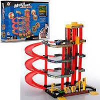 Гараж игрушечный P4788A-2 4 этажа, машинки (жел 6см) 2 шт, лифт, в кор-ке 39-29-6,5см,игра для детей