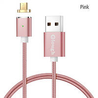 Elough E03 магнитный Micro-USB кабель. Розовый. Лучшее качество!, фото 1