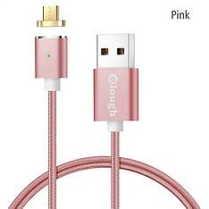 Elough E03 магнитный Micro-USB кабель. Розовый. Лучшее качество!