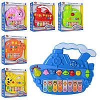 ИГРА 7252 ABCDEF пианино,звук(рус),свет,звуки животных,6 видов 25-24-5см, развивающая игра для детей