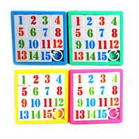 Пятнашки 9004 D 4 цвета 8-8см, развивающая игра, игрушка