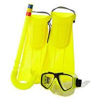 Набор для плавания M 0015 U/R, ласты, маска, трубка