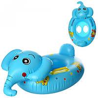Плотик MSW 005 слон, 2 ручки, кул., 17-20-3 см, детский надувной круг