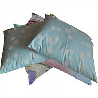 Подушка из гречневой шелухи, ткань Тик Лотос (40х30 см)
