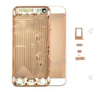 Корпус Apple iPhone 5s золотой  металлический.