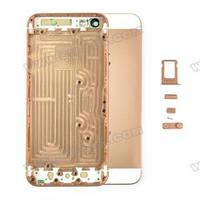 Корпус Apple iPhone 5s золотой  металлический., фото 1