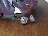 2-в-1!!! Серебряные серьги-гвоздики (пуссеты), фото 2