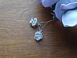 2-в-1!!! Серебряные серьги-гвоздики (пуссеты), фото 3