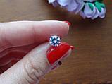 2-в-1!!! Серебряные серьги-гвоздики (пуссеты), фото 7