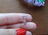 2-в-1!!! Серебряные серьги-гвоздики (пуссеты), фото 8