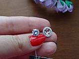 2-в-1!!! Серебряные серьги-гвоздики (пуссеты), фото 9