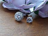 2-в-1!!! Серебряные серьги-гвоздики (пуссеты), фото 4