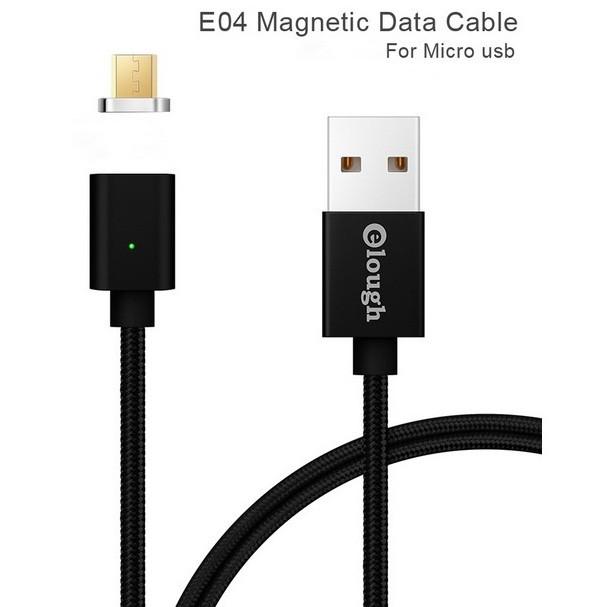 Elough E04 магнитный Micro-USB кабель. Черный. Лучшее качество!