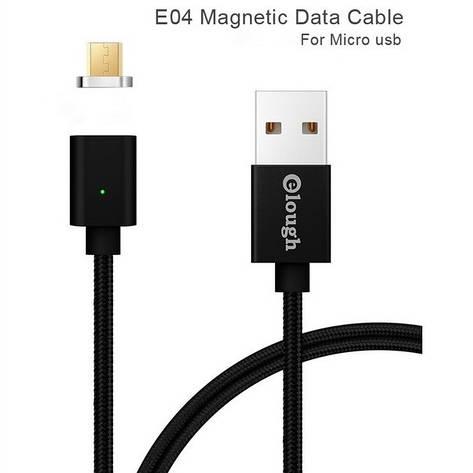 Elough E04 магнитный Micro-USB кабель. Черный. Лучшее качество!, фото 2