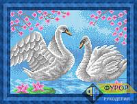 Схема для вышивки бисером - Пара лебедей, Арт. ЖБп4-78