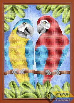 Схема для вышивки бисером картины Пара попугаев (ДБч5-135)
